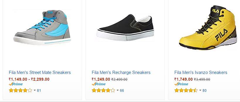 Fila Shoes Flat 50% OFF-Amazon - TechBuy.in