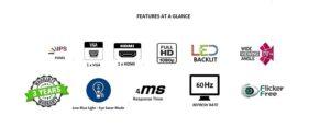 Acer 21.5 inch LED Full-HD IPS panel Bezel-less Monitor TechBuy.in
