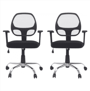 DZYN Furnitures Linen Office Executive Chair Review (Black, Set of 2) - Bang for the Buck - Big Saving Days Flipkart