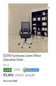 DZYN Furnitures Linen Office Executive Chair Review (Black, Set of 2) - Bang for the Buck - Big Saving Days Flipkart
